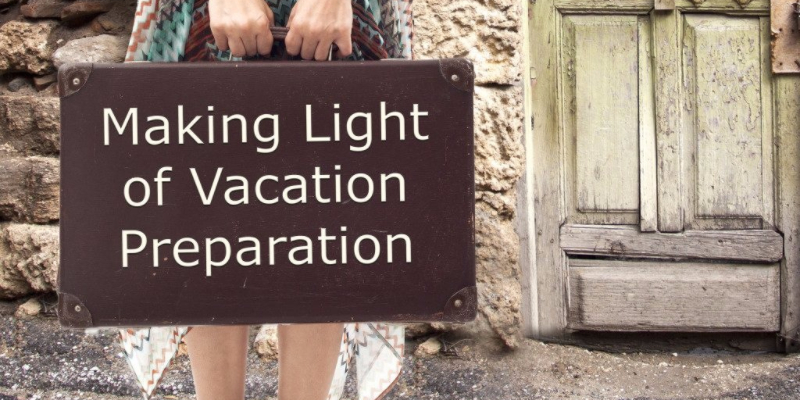 Making Light of Packing With A Vacation Checklist